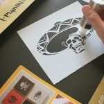 Halloween Skeleton Card Tutorial 1