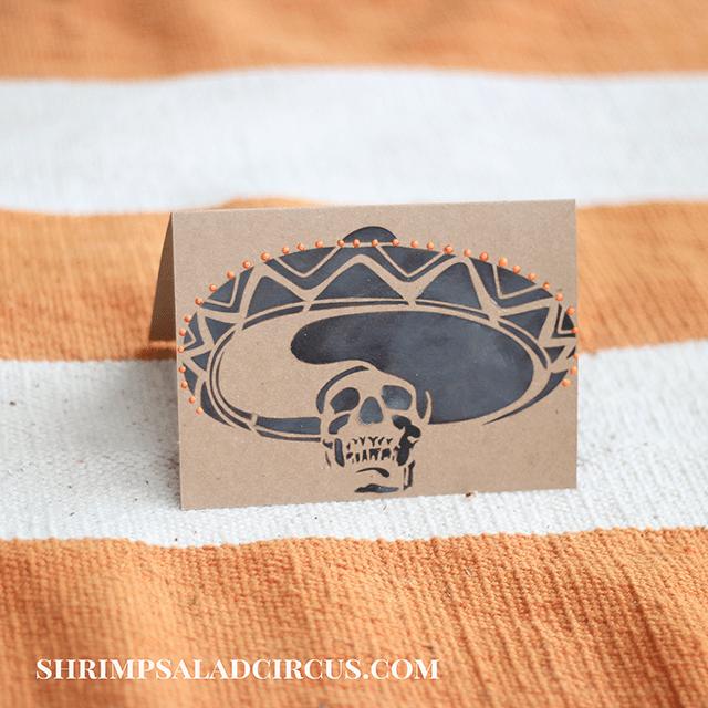 Halloween Skeleton Card Tutorial 8