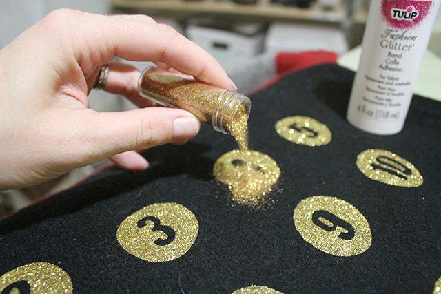Advent Calendar Christmas Sweater Glitter