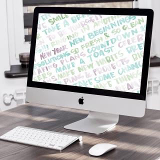 January Desktop Wallpaper . Freebies