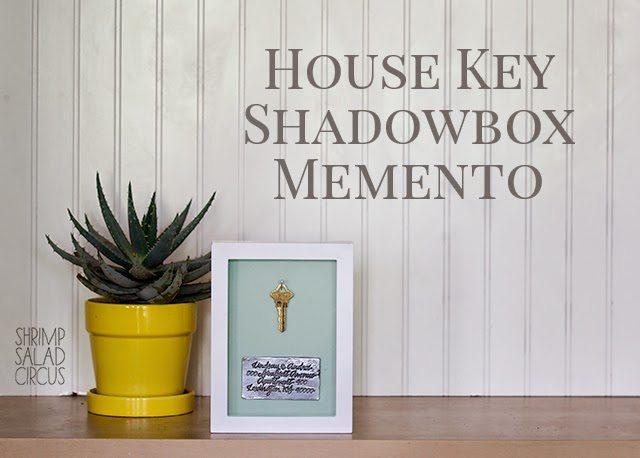 House Key Address Shadow Box Frame Art