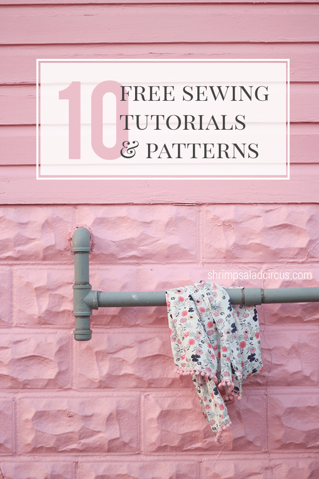 10 Free Beginner Sewing Tutorials