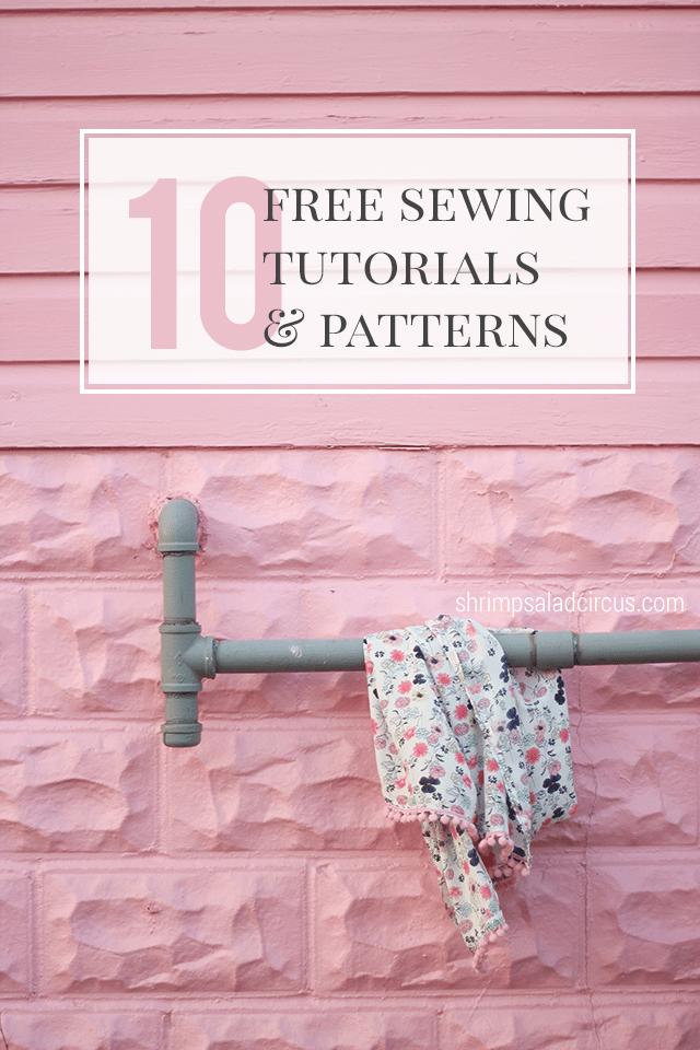 10 Free Beginner Sewing Tutorials