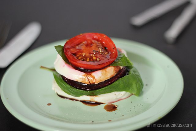 Mozzarella Beet Stacks Recipe