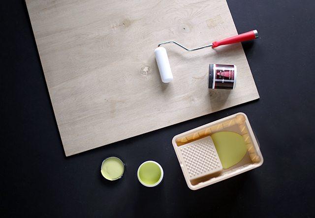 DIY Colorful Blog Backdrops Step 1