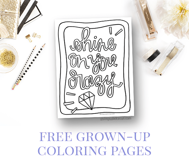Shine on Your Crazy Diamond - Free Coloring Page