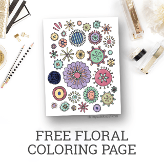 Free Floral Coloring Page Printable – Freebies