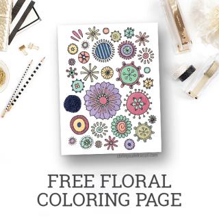 Free Floral Coloring Page Printable – Freebies