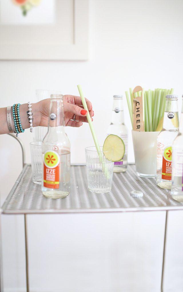 Mocktail Bar Cart Inspiration With Free Printable Citrus Wall Art