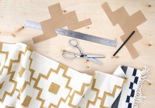 How to Paint a Rug - IKEA Hacks