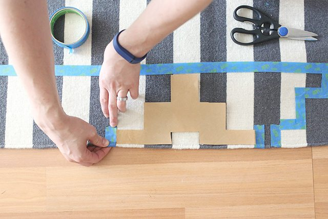 How to Paint a Rug - Step 4