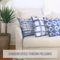 IKEA Hack - Shibori Dyed Throw Pillows