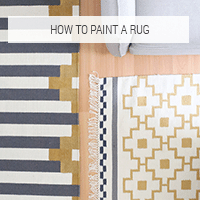 Button - How to Paint a Rug to Make a Coordinated Set