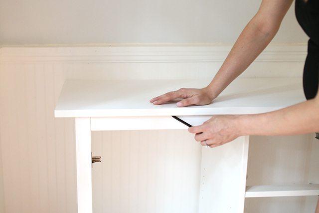 IKEA Hacks - DIY Bar Cabinet - Step 2
