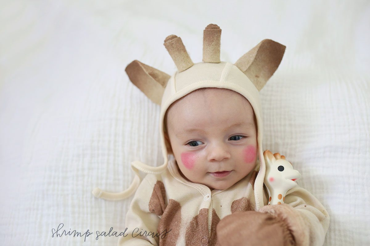 DIY Sophie the Giraffe Baby Halloween Costume
