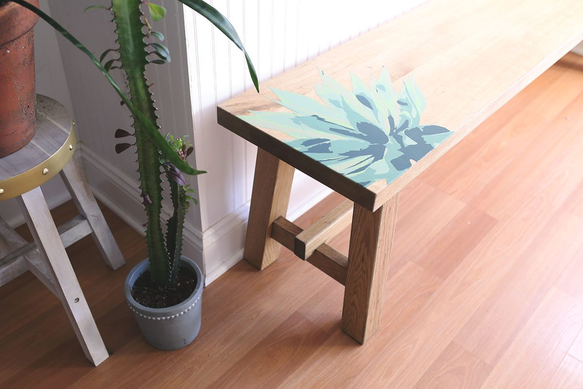 Paint by Numbers Furniture MOCKELBY Bench IKEA Hacks