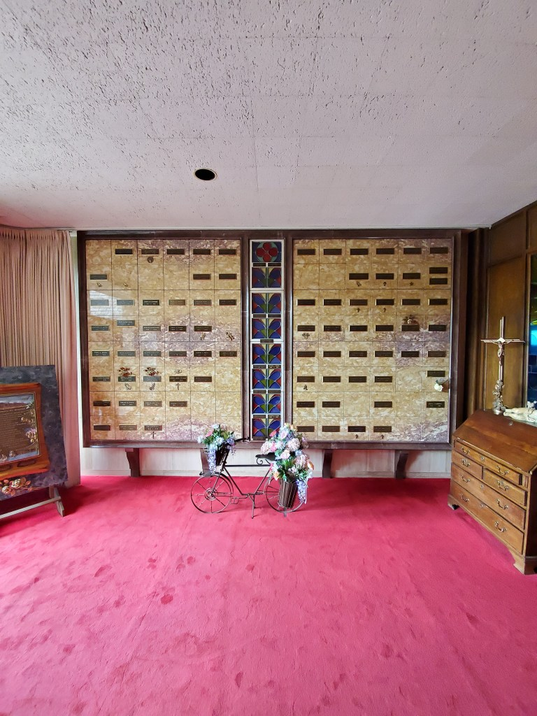 Columbarium of Ascension in our main Chapel Mausoleum Entrance