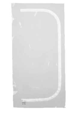 Porte zip transparente en U Réf 42724