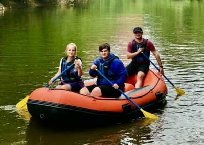 Mini raft hire in Ironbridge Gorge