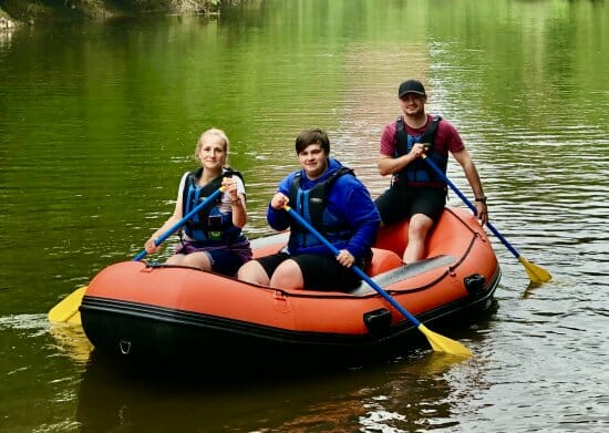 Mini raft hire in Ironbridge Gorge