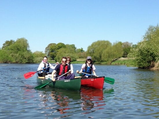 Canoe hire with Shropshire Raft Tours
