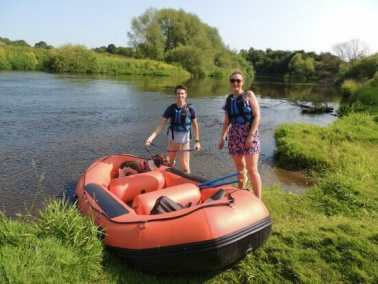 Mini-raft boat hire activities in Ironbridge Gorge