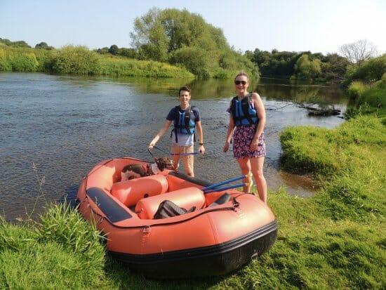 Mini-raft boat hire activities in Ironbridge Gorge