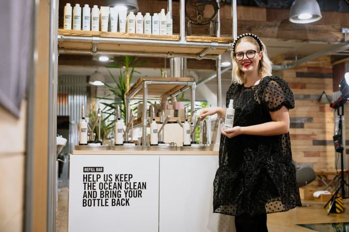 Brooke Evans of Brook Evans Ironbridge now stocks Authentic Beauty Concept's special refill station for their products instead of throwing away. After a hard few months they are aiming to be more sustainable and attract customers