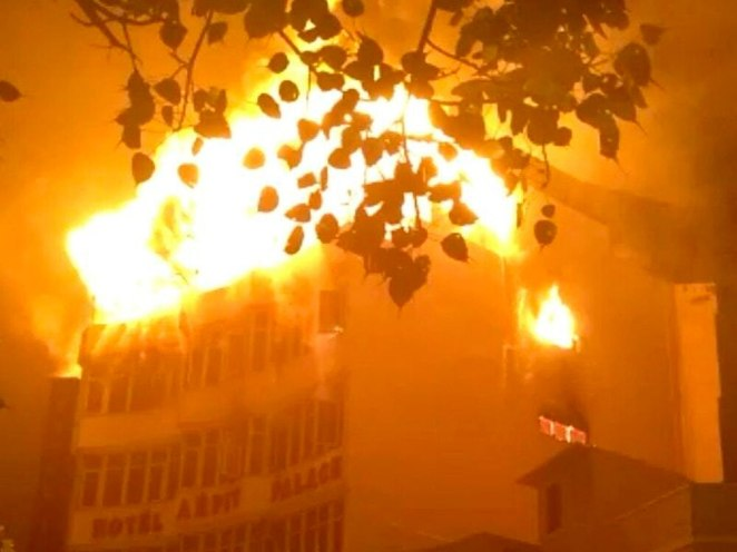 Image result for fire kills people in indian hotel