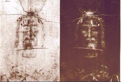 The Face of the Shroud, both photograph and negative