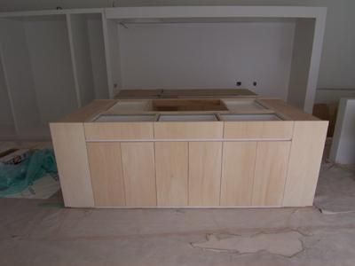 家具工事による造作キッチン