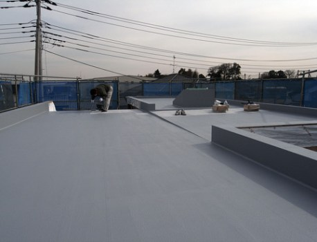 屋上防水 が完了。これで安心して木工事が進められます