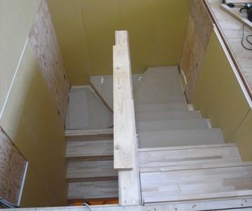 階段の施工が見事!見た目では分からない難しさ | 川口の白い家