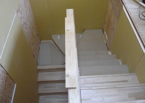 集成材の階段