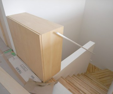 階段手摺 をシンプルなデザインで納める | 川口の白い家