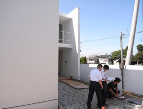 完了検査 が無事終了。役所の検査員にも建築を褒められました