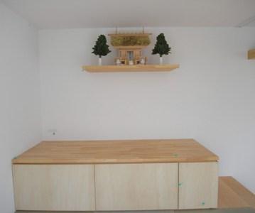 神棚 も取付けてシンプルでオシャレな和室が完成 | 川口の白い家