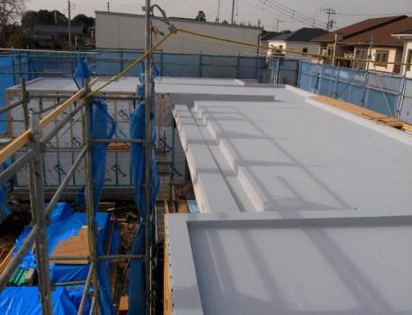 取手市I邸にて屋根の防水工事が完了しました