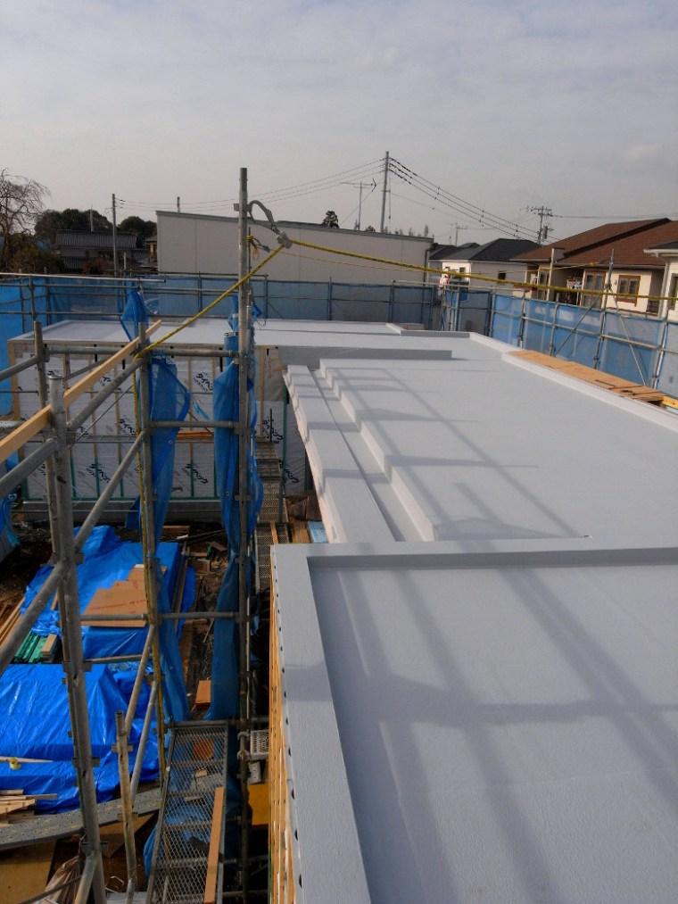 陸屋根の防水工事完了