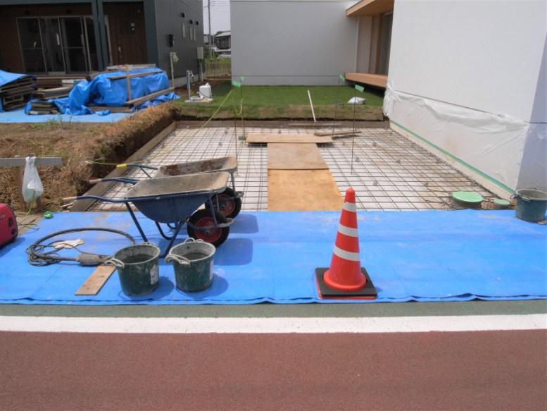 駐車場のコンクリート打設の段取り