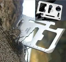 Mini Stainless Steel Multi Pocket Credit Card Tool Portable Outdoor Survival Camping Wallet Tools Knife