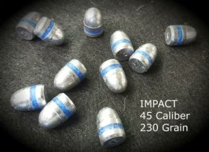 Impact 100 Qty 45 Caliber 230 Grain Round Nose Air Rifle Bullets Pellets