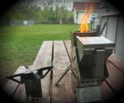 Bullet Proof Rocket Stoves 22 Adventure Stove Burning