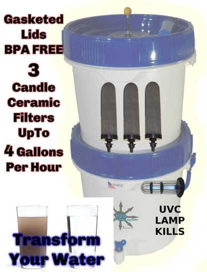 Gravity Well Ultra Water Filter with UV Sterilization