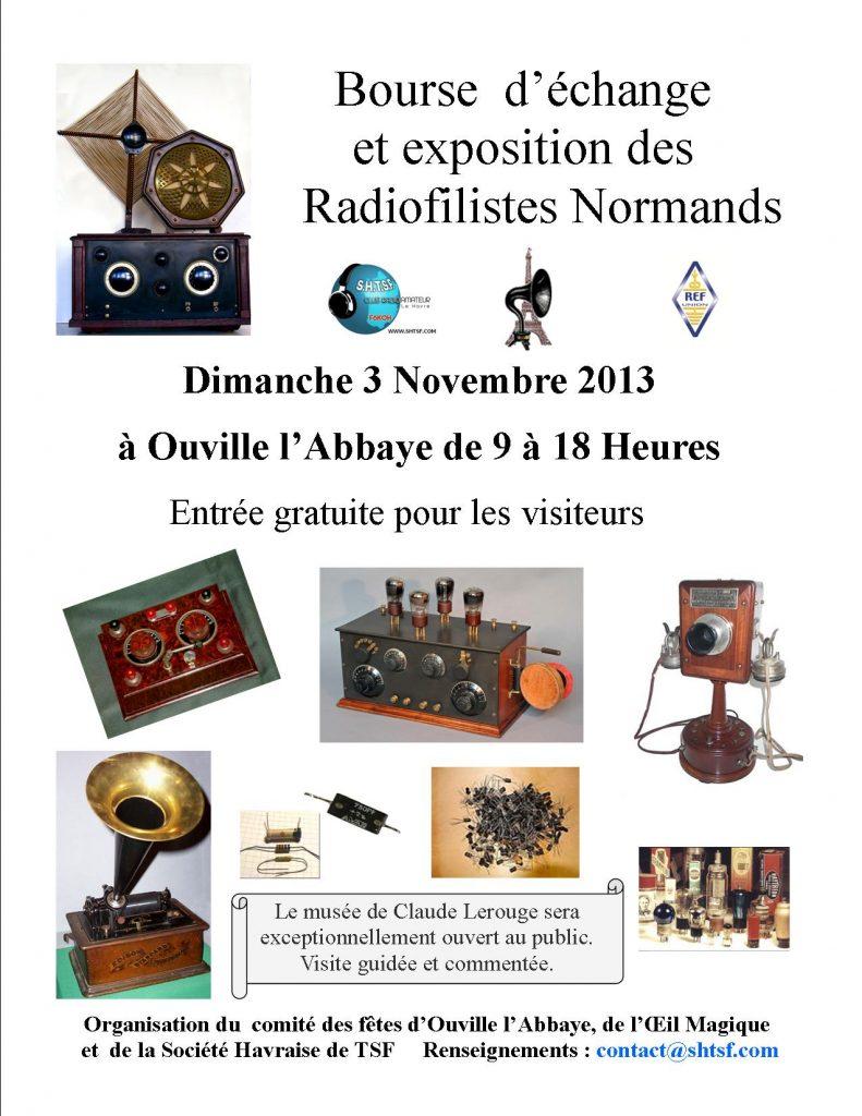 Bourse à Ouville l'Abbaye  3 novembre 2013  nouvelle afficheaffiche