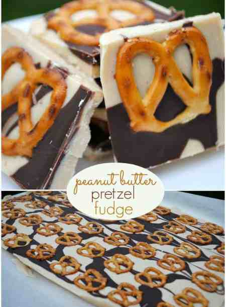 Peanut Butter Pretzel Fudge | Shugary Sweets
