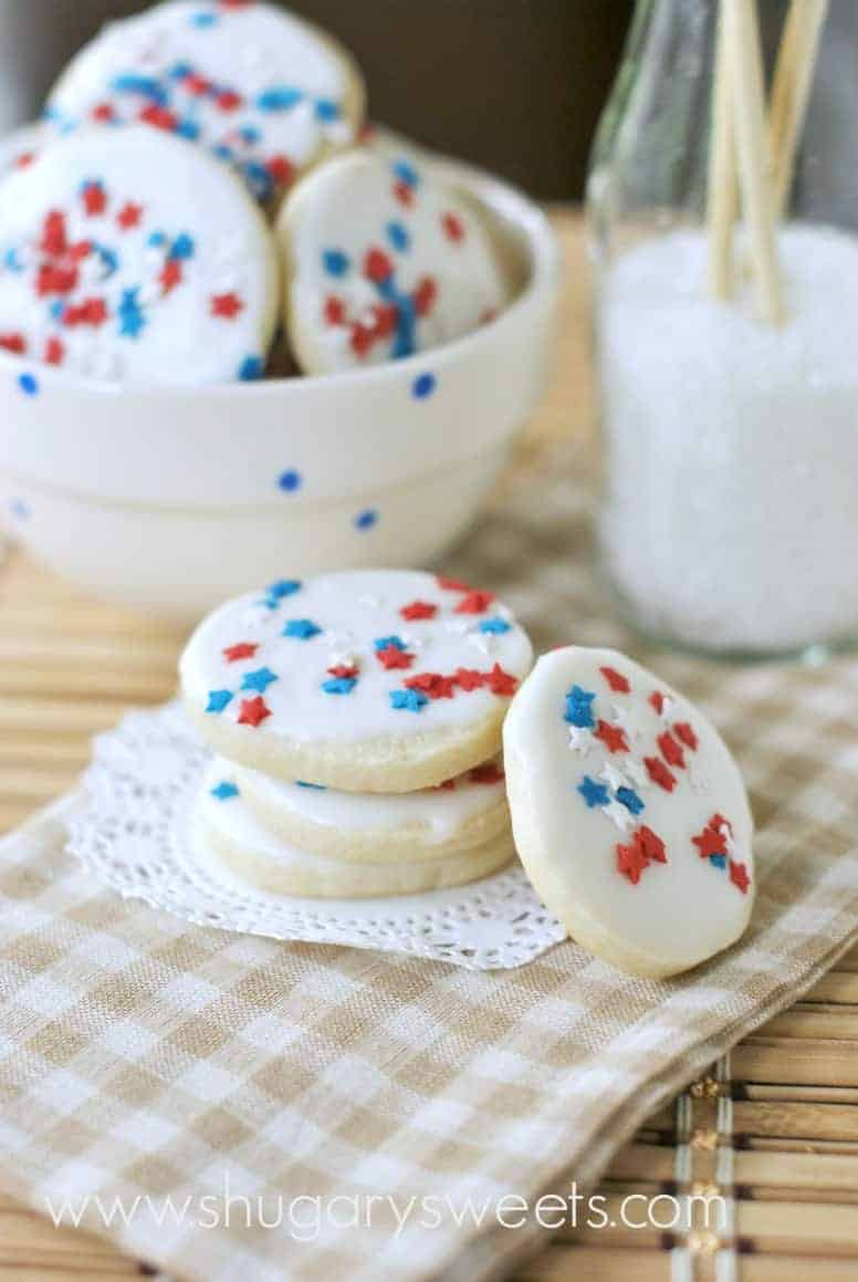red, white, and blue icebox cookies - shugary sweets