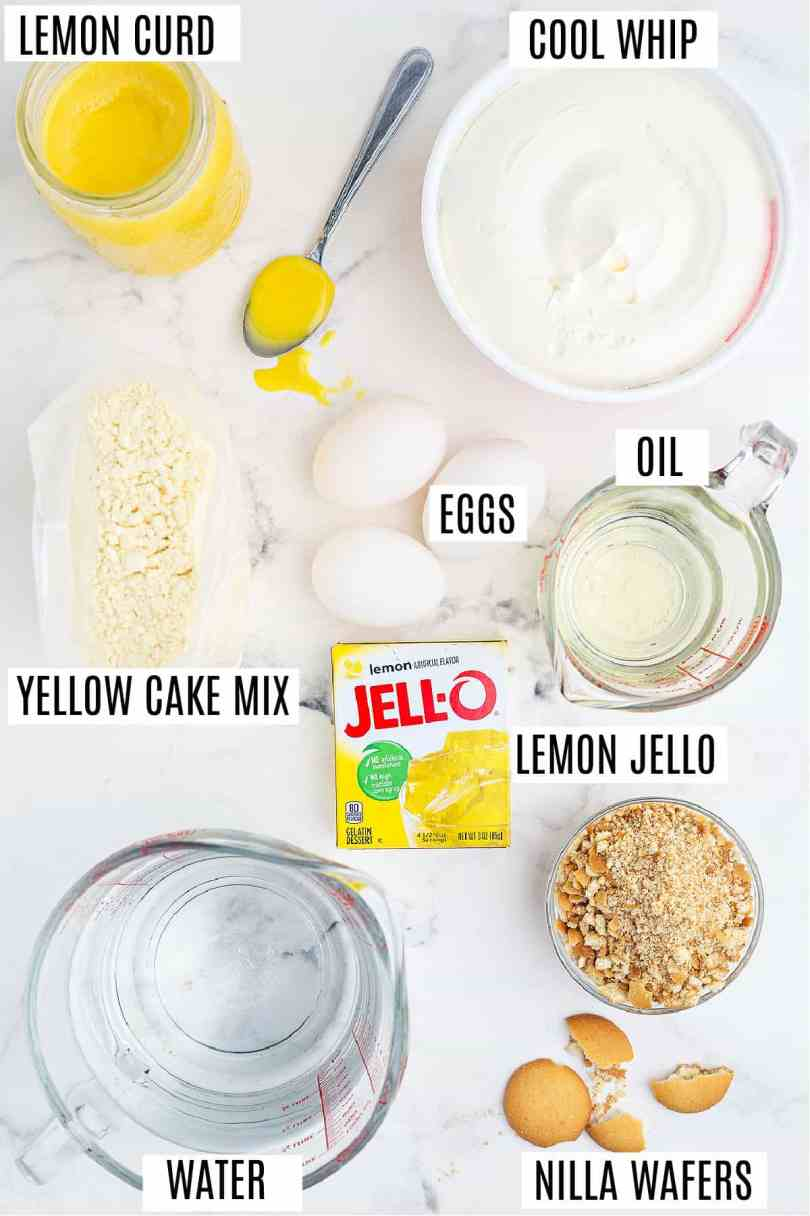 — Lemon Poke Cake