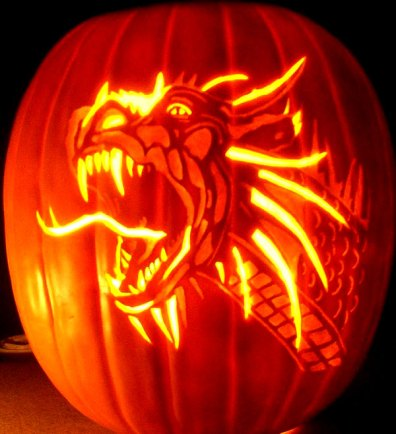 dragon-pumpkin-carving-for-hallowen-2014