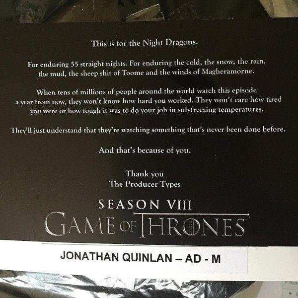 Game of Thrones - poděkování